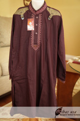Dark Purple Boys Salwar Kameez Age 8