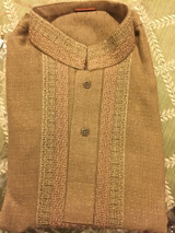 Brown Embroidered Boys Age 7 Shalwar Kameez