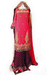Red Bridal Suit Knee Shirt