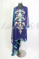 Blue Dress with Stone Work on shirt and pants