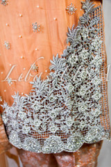 Peach Fancy Embroidered Suit