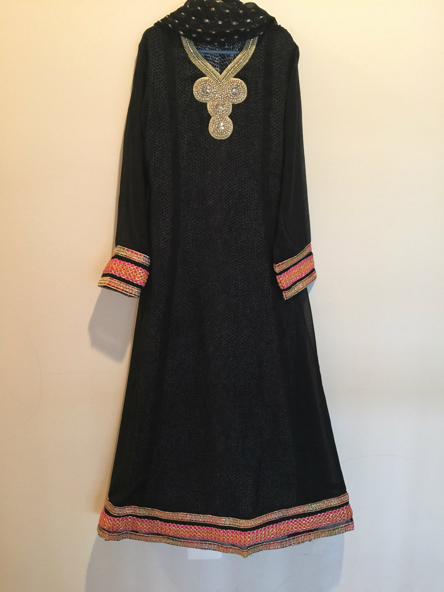 Girls Black Party Dress Age 11/12