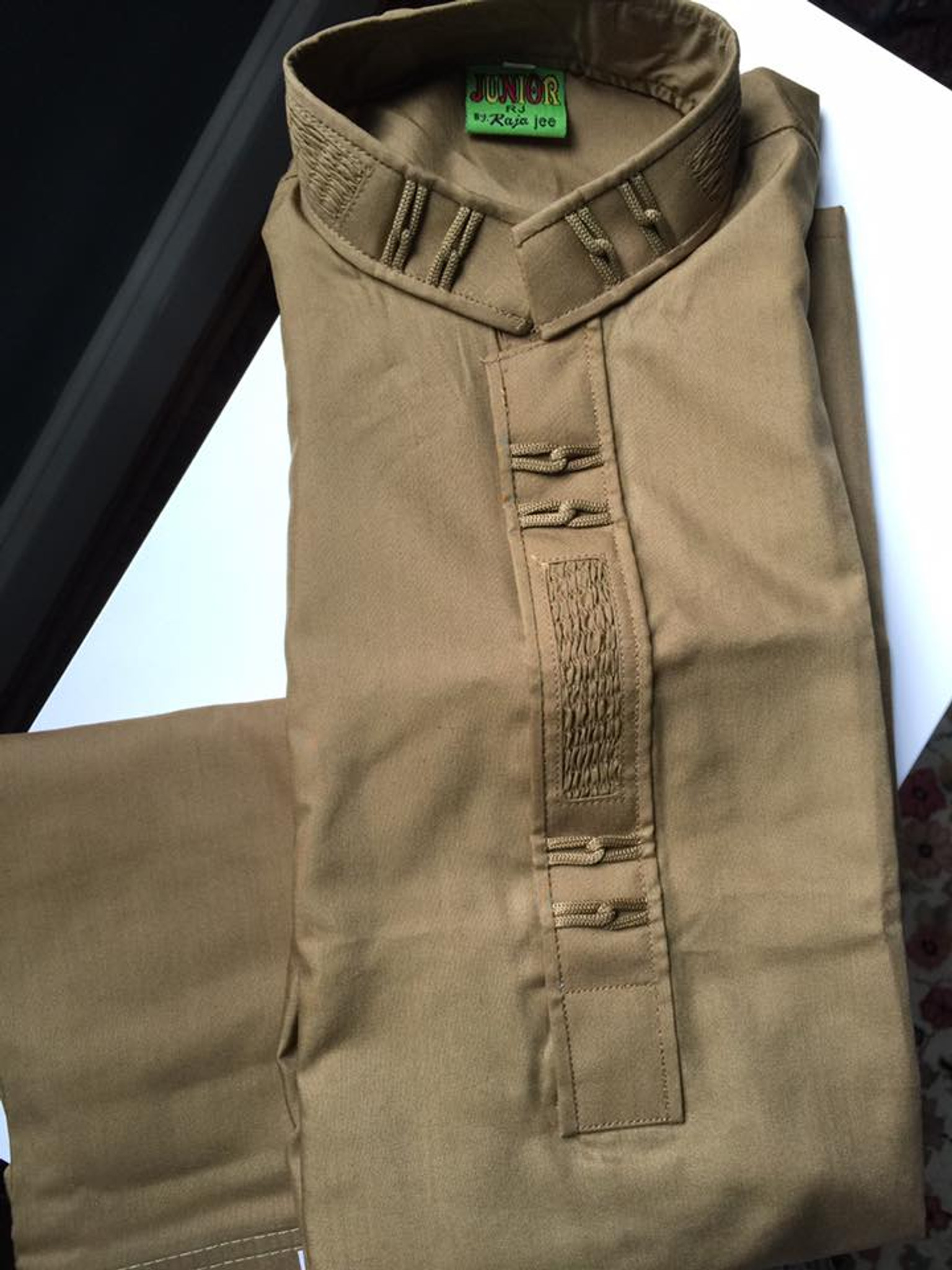 Boys brown shalwar kameez age 6