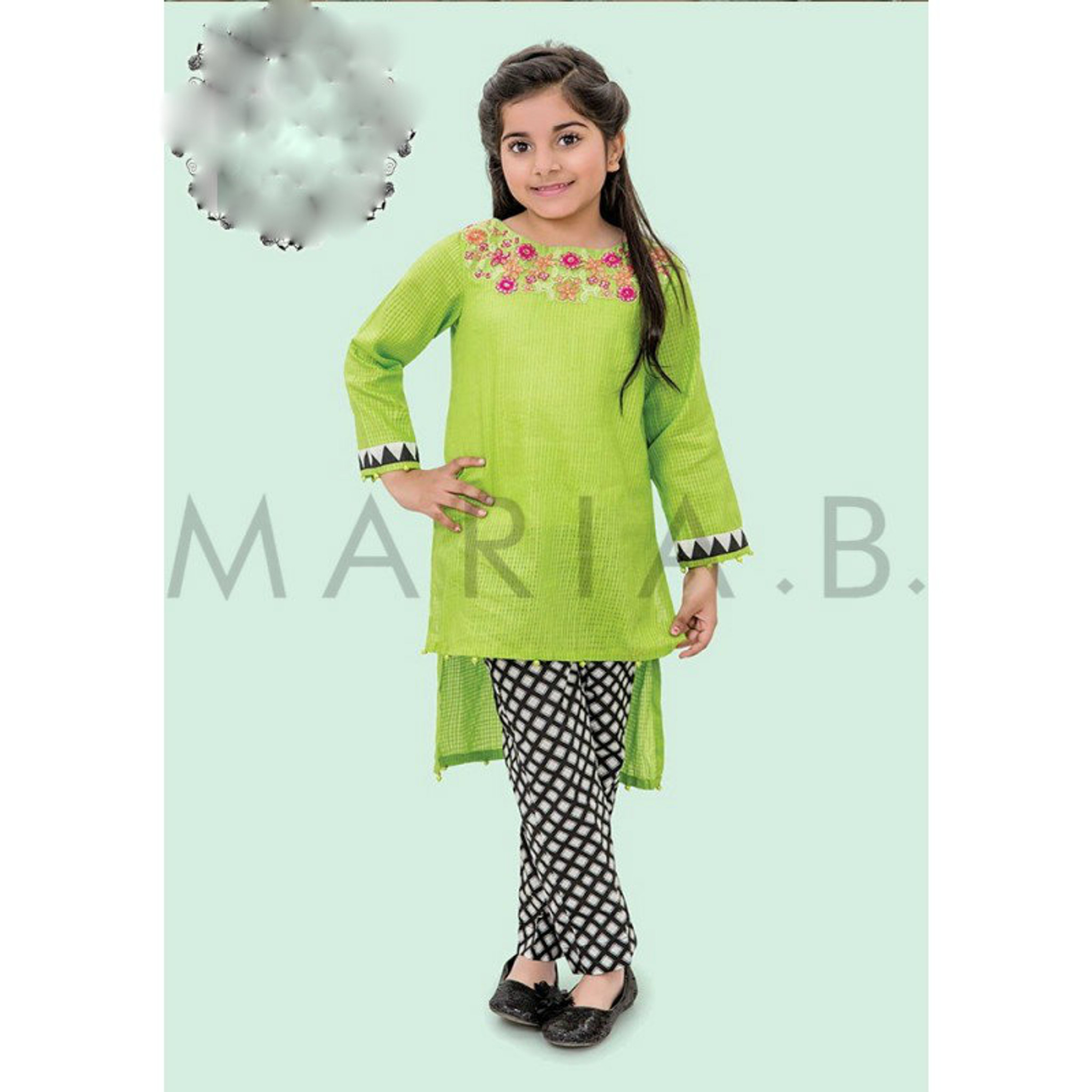 Maria b kids age 6-8 lime green