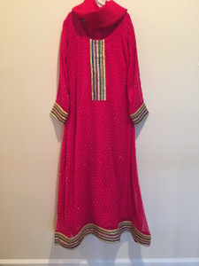 Deep Pink Girls Dress 12/13 Yrs