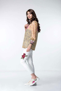 Ethnic Embroidered Fusion Top