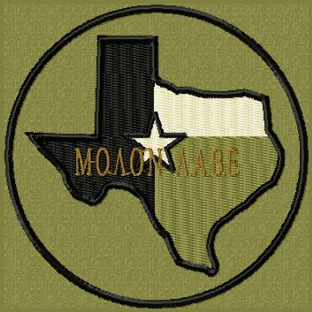 Molon Labe Patch Texas Subdued OD