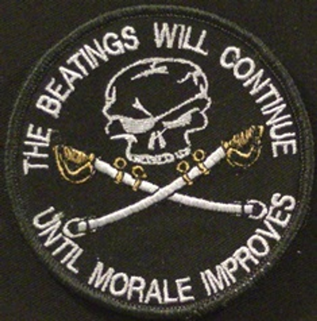 The beatings will continue funny morale patch