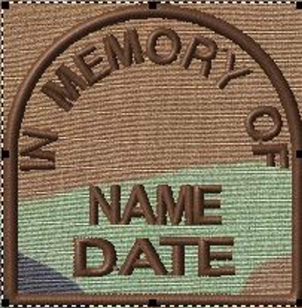In Memory Of custom patch in woodland