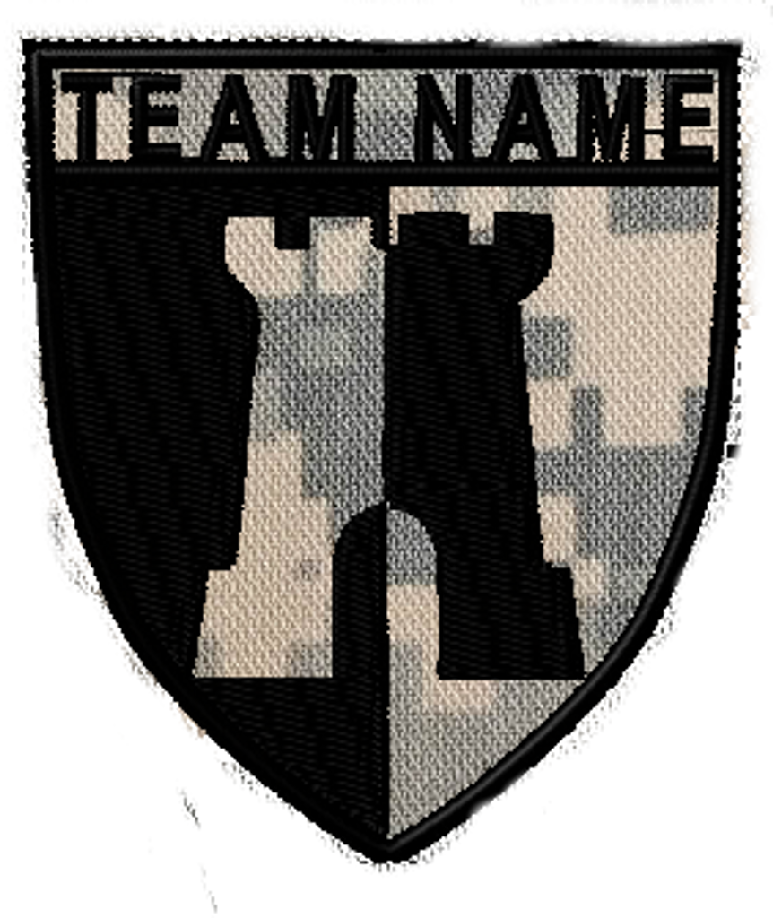 Team patches castle crest
