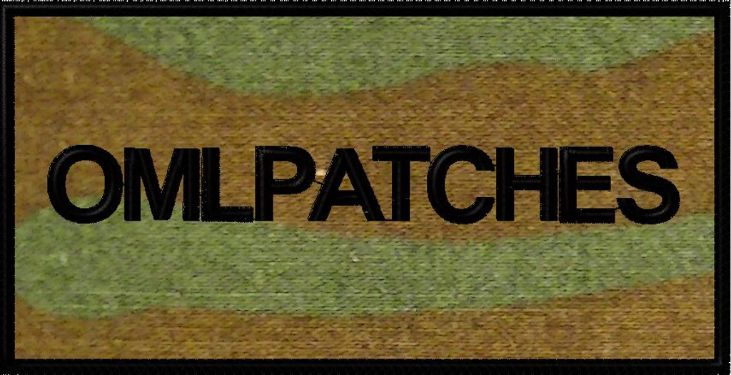 custom 3x6 nametape or smaller full back patch in woodland