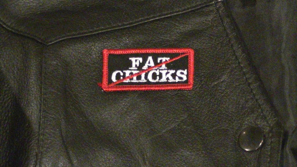 No Fat Chicks Biker Patch