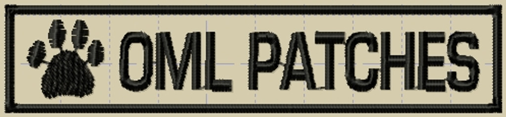 K9 police patch nametape with one paw print