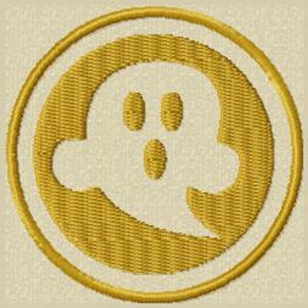 Scary Ghost VELCRO® Brand Patch