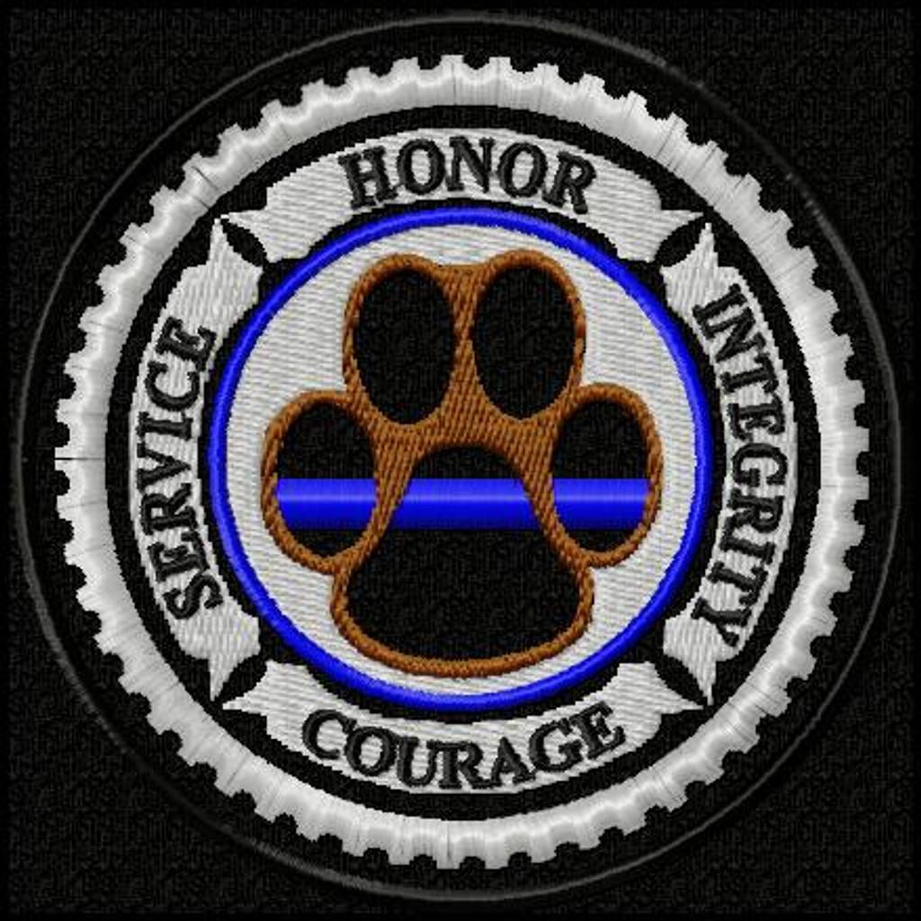K9 Honor Thin Blue Line Edition Velcro 174 Brand Patch