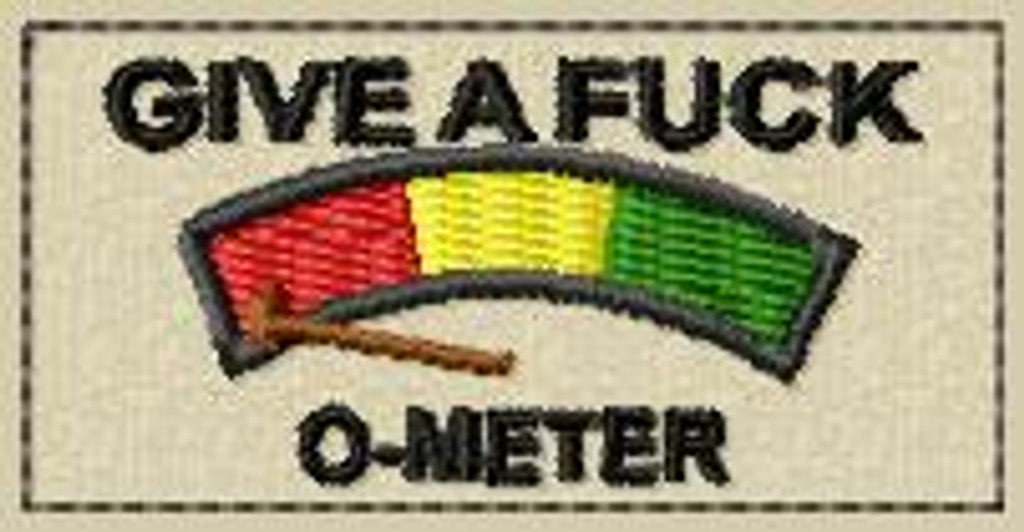 give a fuck o-meter 1 x 2