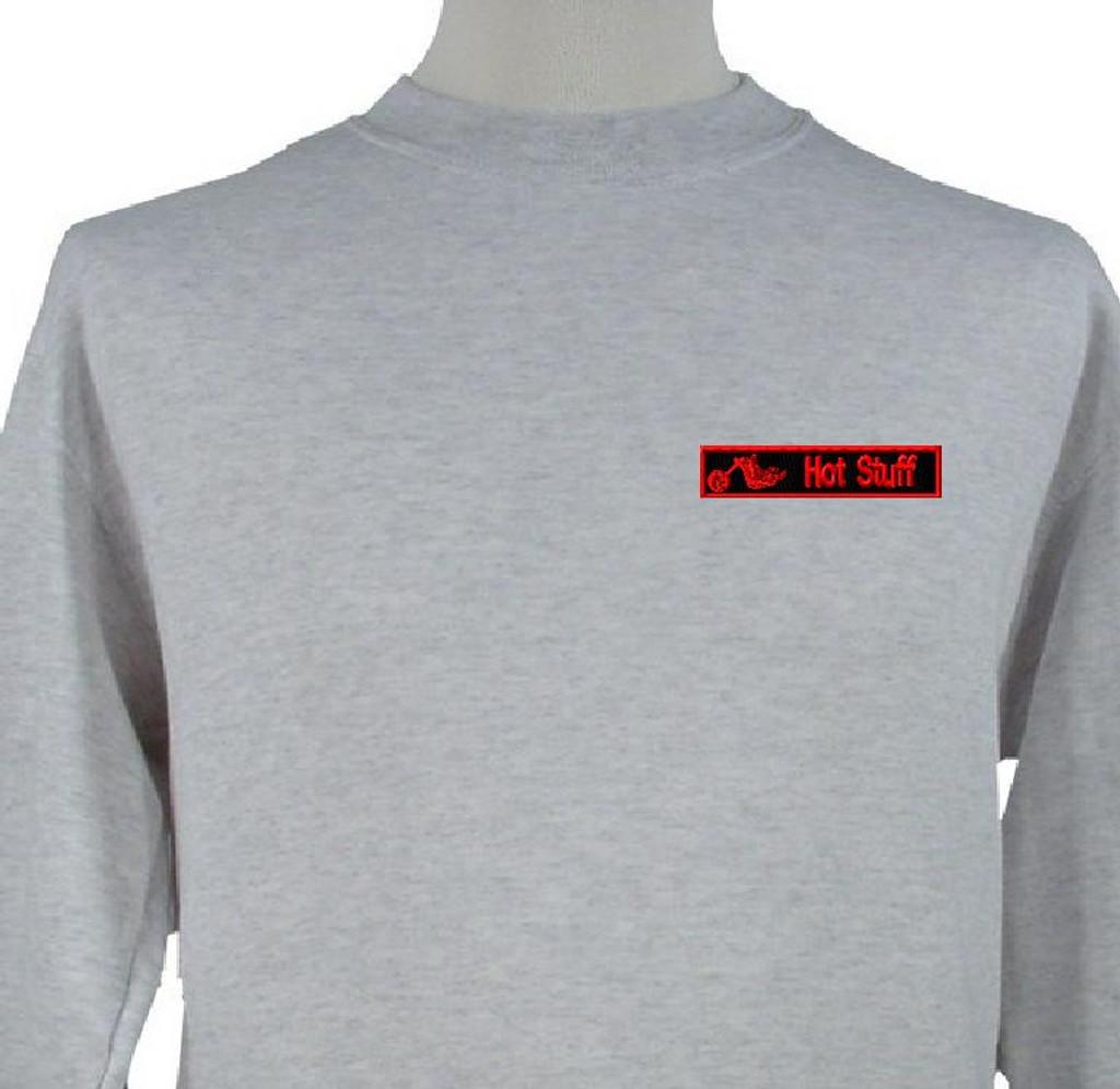 biker sweatshirt with nametape