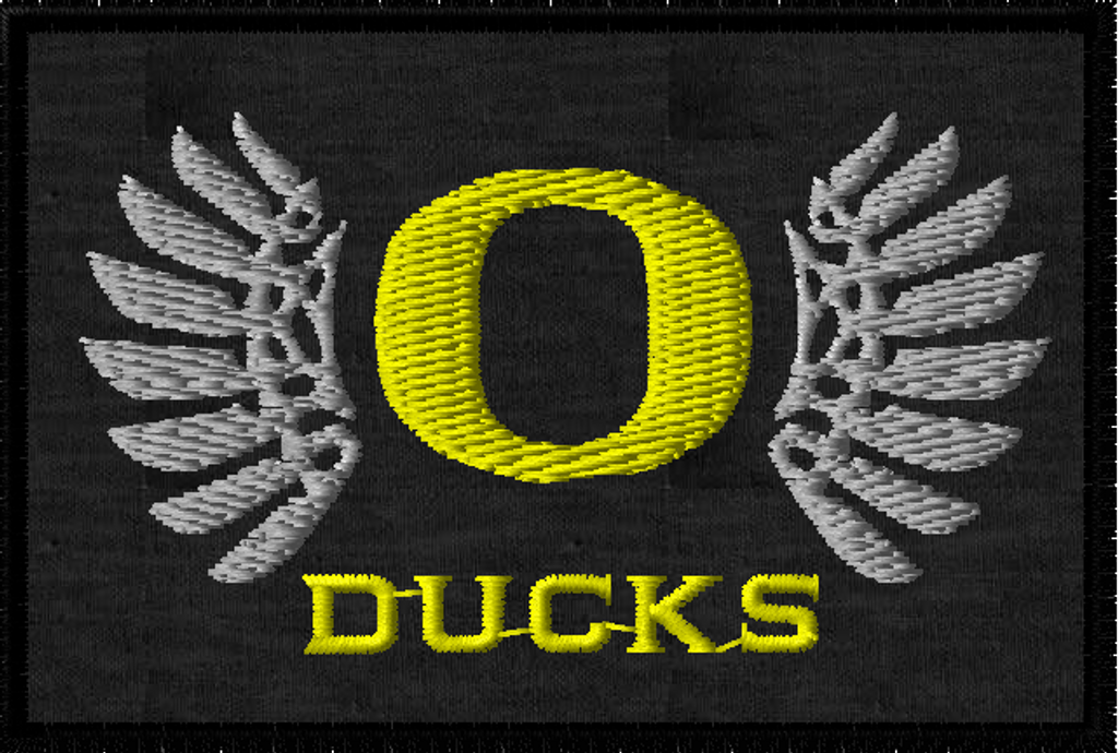 Ncaa oregon ducks football iron on patches embroidered patch badge.