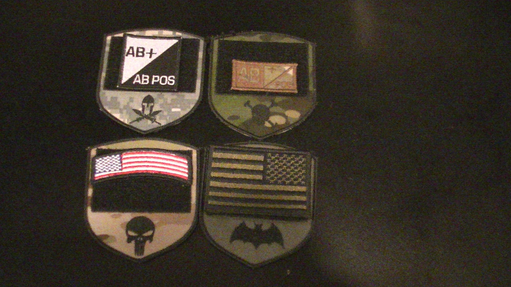 Pip patch with loop VELCRO® Brand with a variety of attached patches