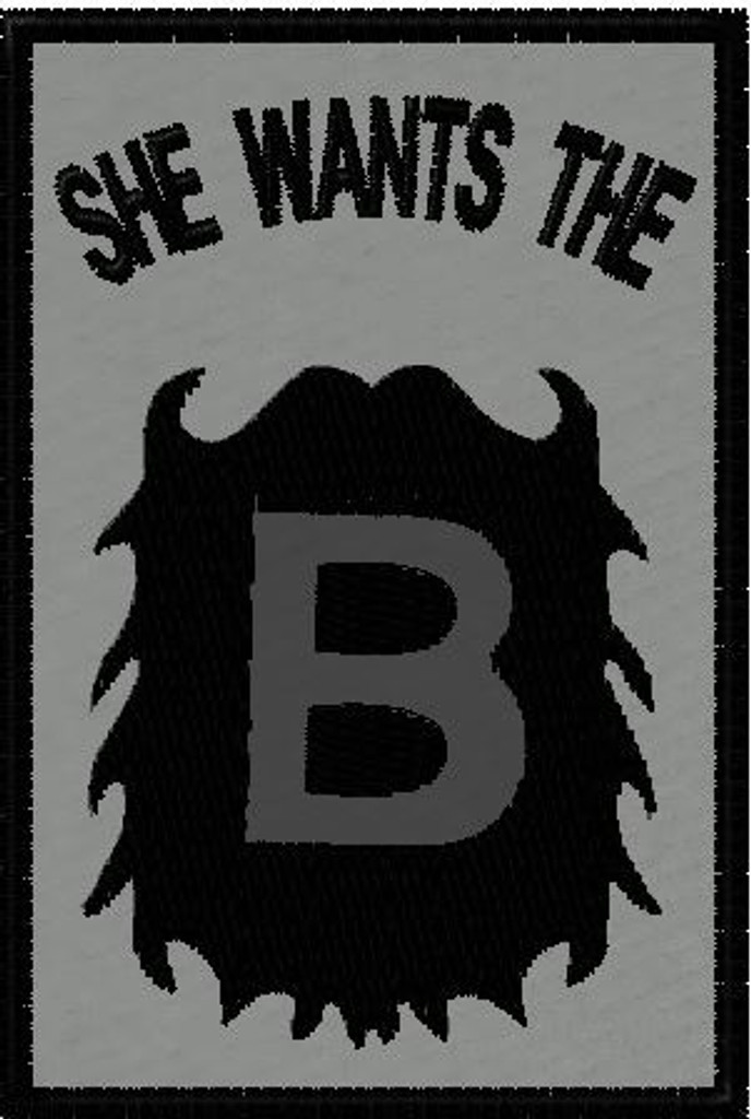 She wants the B VELCRO® Brand patch