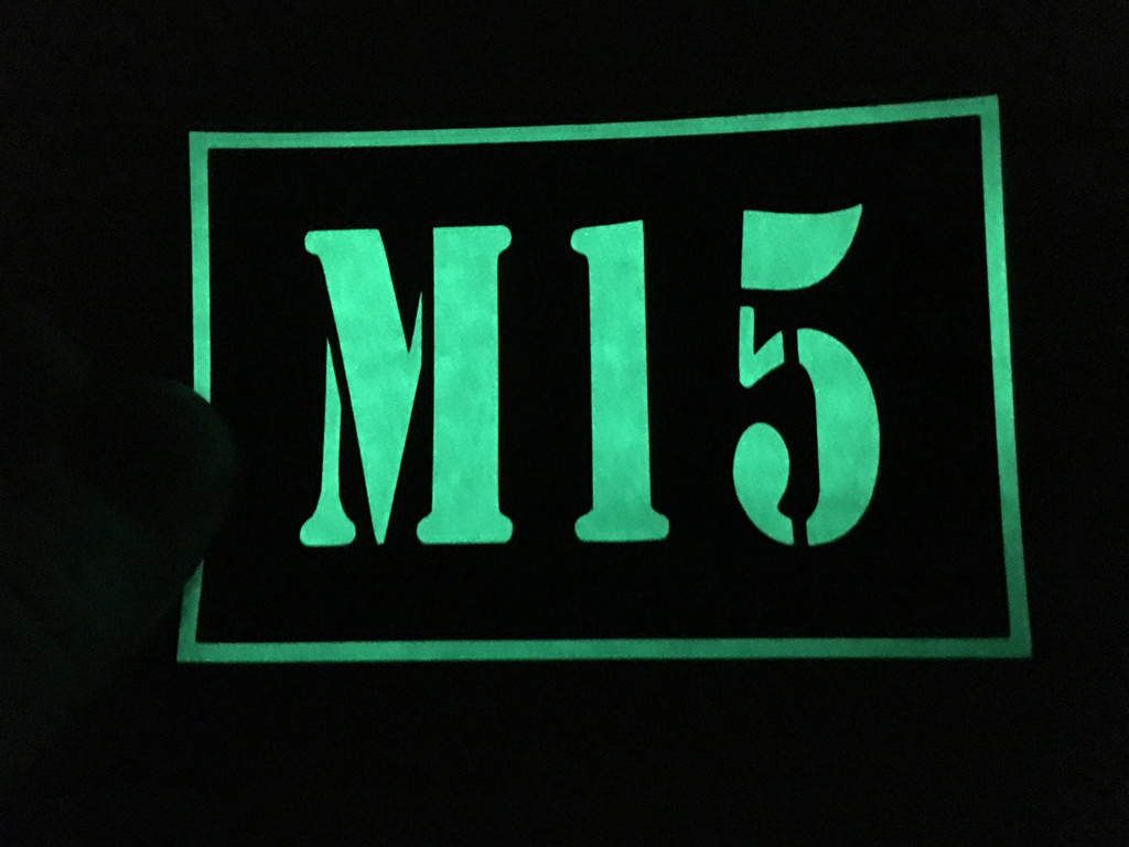 Custom glow in the dark patches