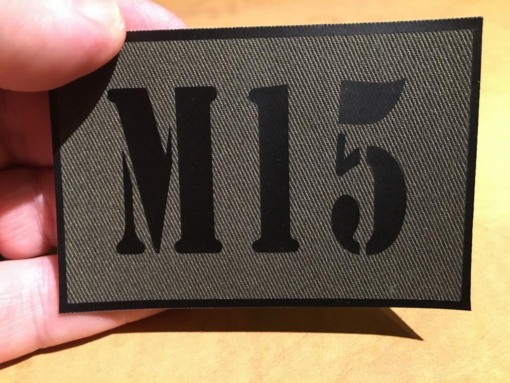 PVC Vinyl Custom ID patch with stencil font
