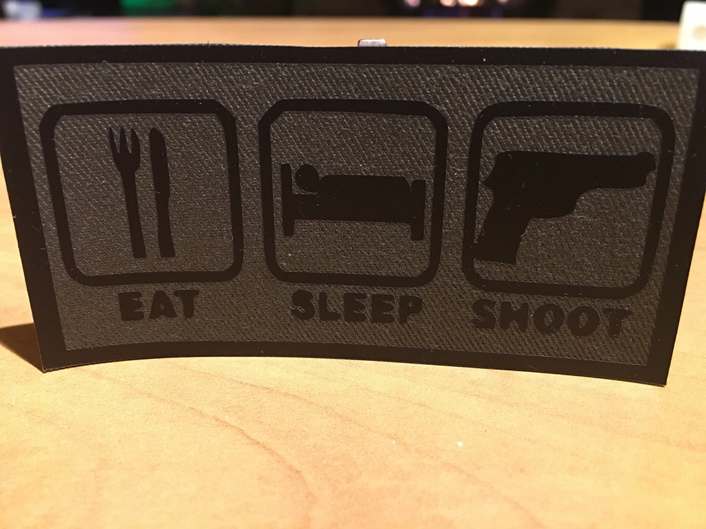 PVC Vinyl Patch Eat Sleep Shoot