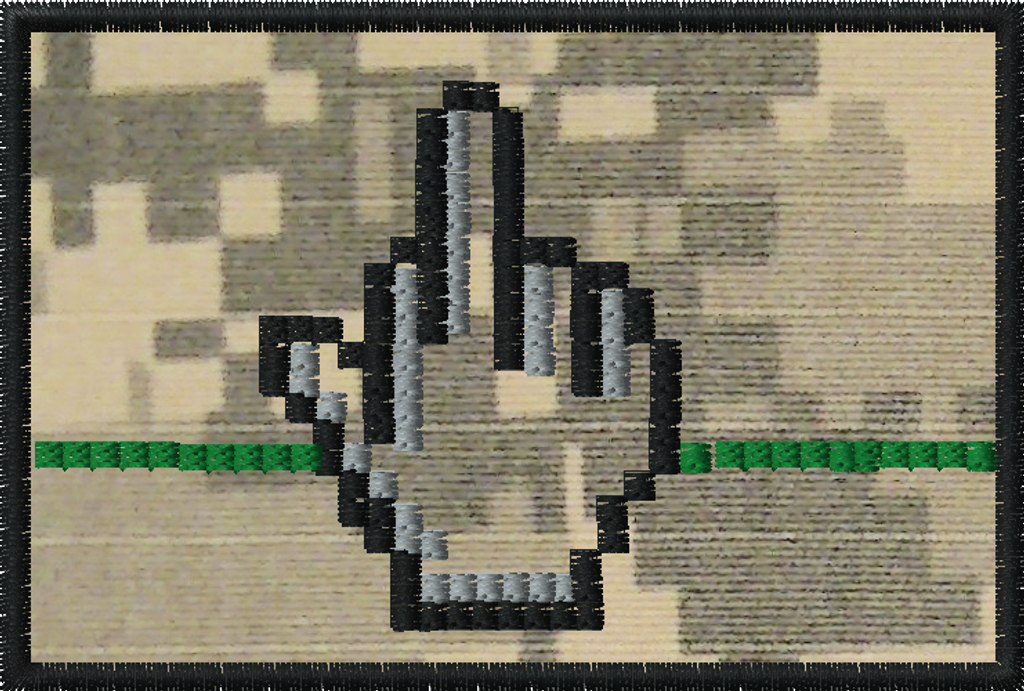 Pixel finger morale patch with ACU background