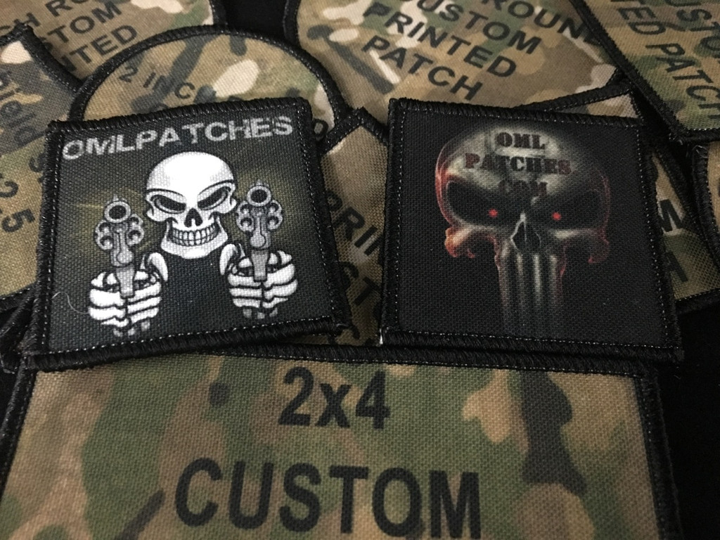 get one of two printed patches for free
