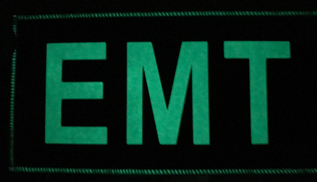 Custom 3x6 EMT Glow in the dark Velcro patch