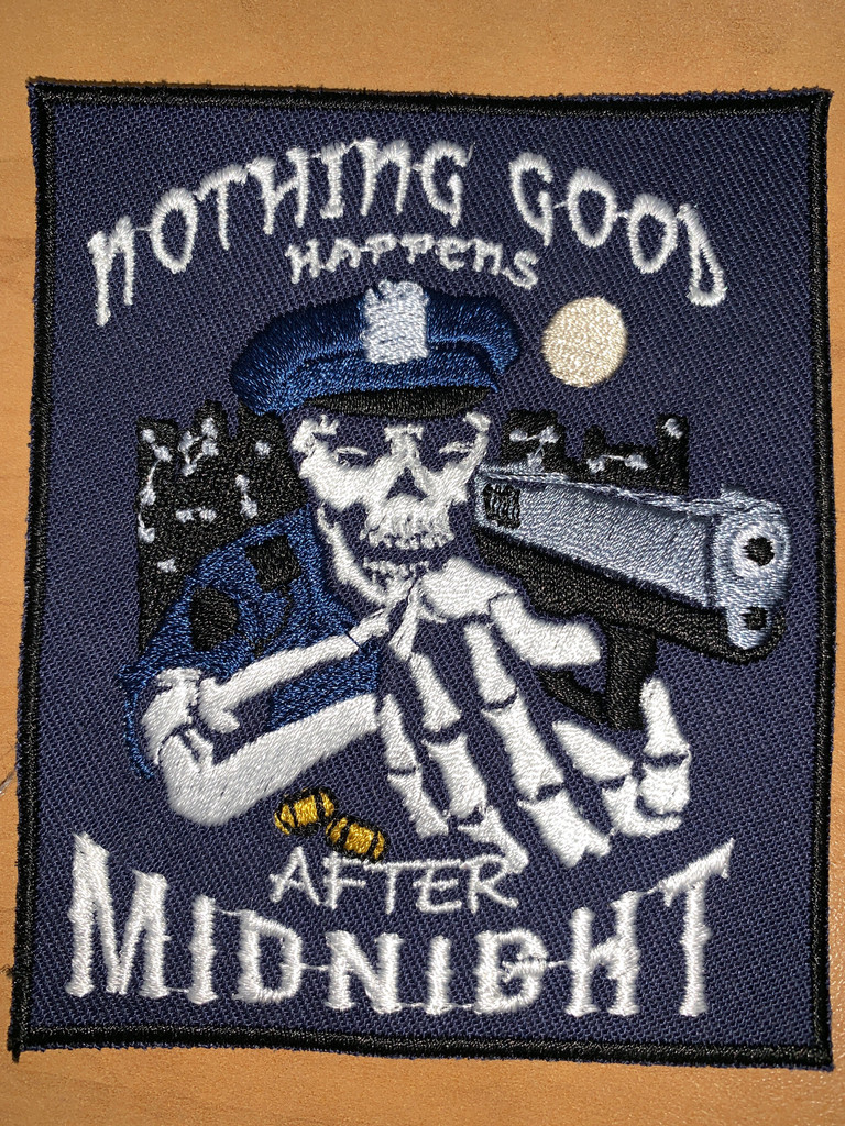 Nothing Good Happens Velcro patch