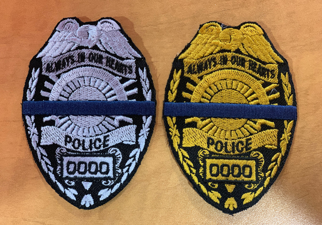 Custom Memorial Police Badges with velcro