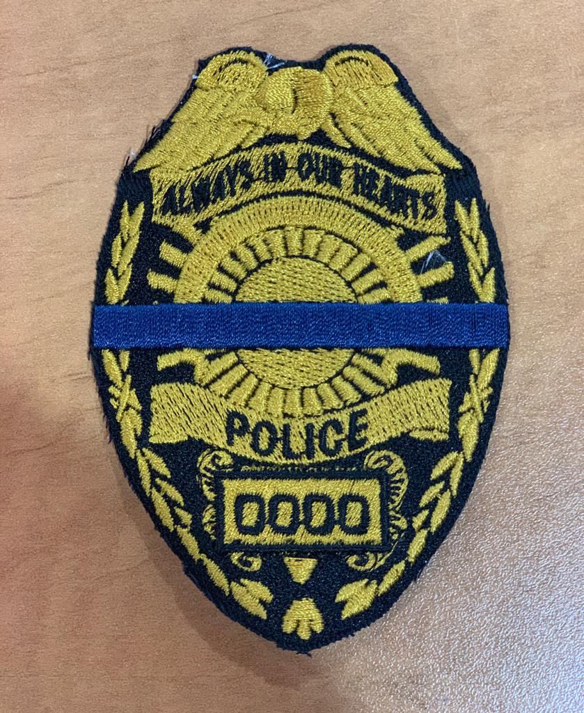 Custom Police Memorial Badge Gold
