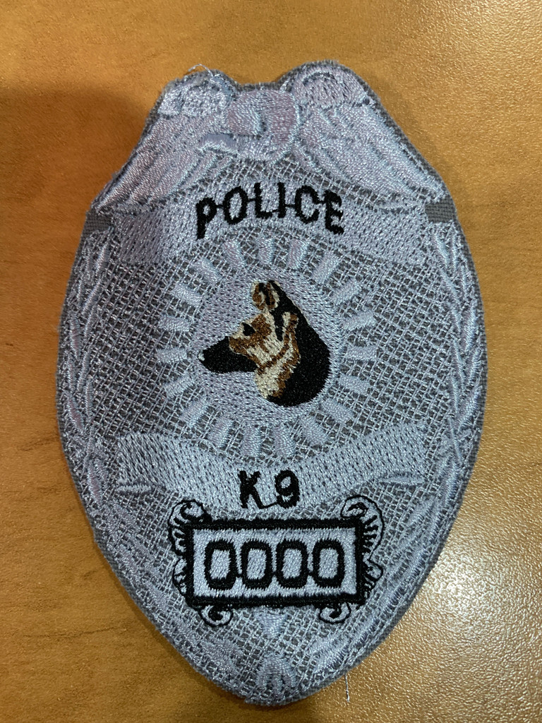 Custom K9 Police Badge Velcro Patch