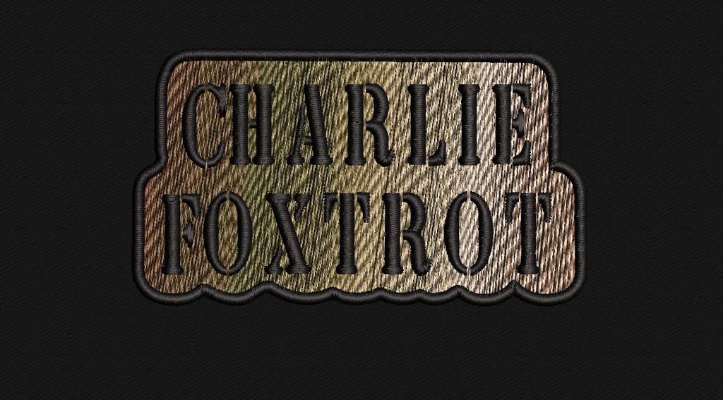 Charlie Foxtrot Morale patch in multicam colors