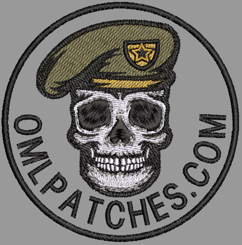 Army Skull Team Patch morale patch
