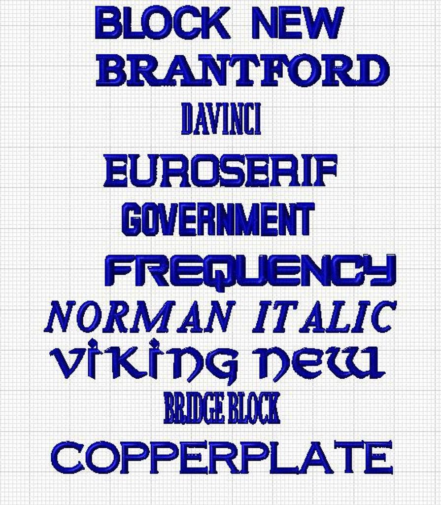 Font selection sheet