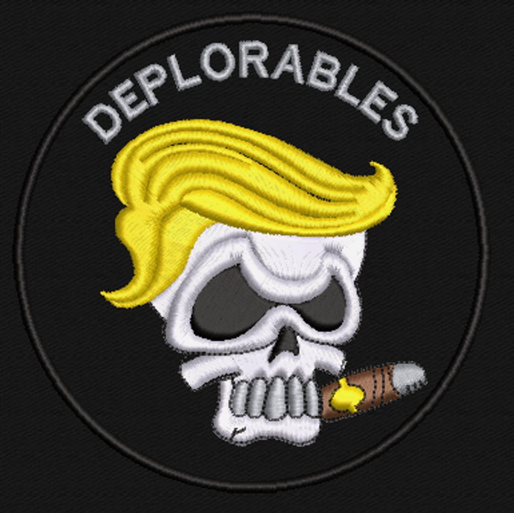 Deplorables Cigar Skull Patch