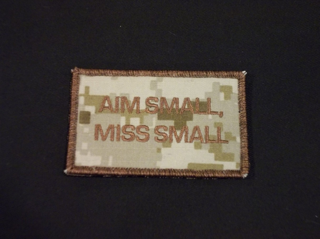 Aim small, miss small patch in DCU