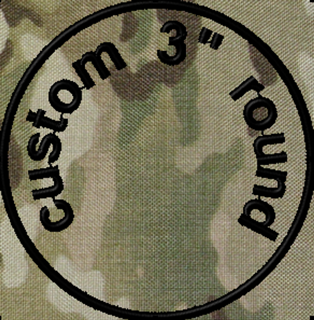 3in Round Custom VELCRO® Brand Patch