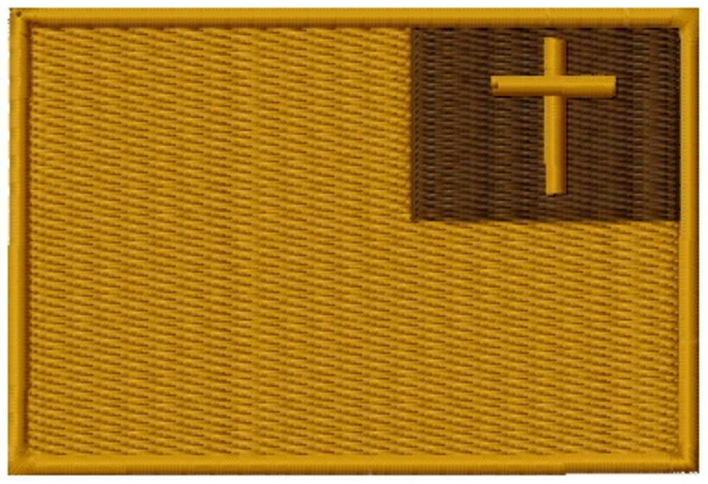 Christian Flag VELCRO® Brand Patch Multicam
