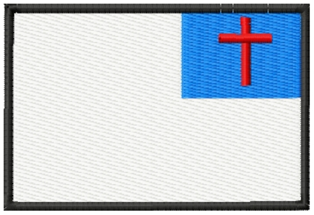 Christian Flag VELCRO® Brand Patch Full Color