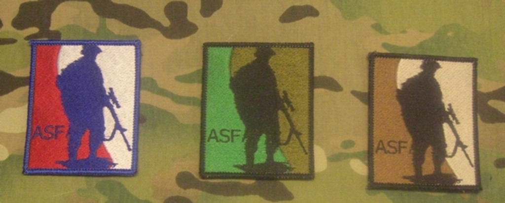 ASF full color camo patches