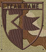 Team patches flag crest