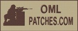 Full back VELCRO® Brand Patch with soldier