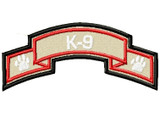 K9 Police Scroll full color patch