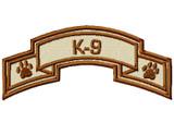 custom K9 police scroll subdued