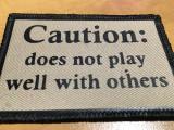 PVC Vinyl Caution patches