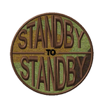 standby to standby moral patch - custom VELCRO® Brand patch woodland #moralepatch #patches #oml