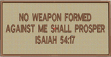 No weapon formed 4x8 full back patch subdued in tans